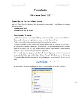 Formularios Microsoft Excel 2007