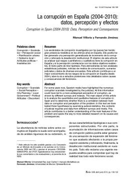 La corrupción en España (2004-2010): datos