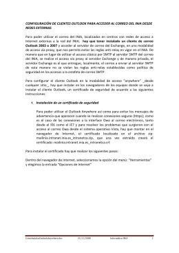CONFIGURACIÓN DE CLIENTES OUTLOOK PARA