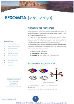 EPSOMITA (MgSO4*7H2O)·