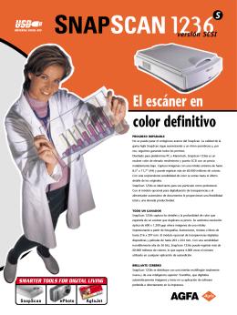 Descargar brochure en formato PDF SnapScan 1236s