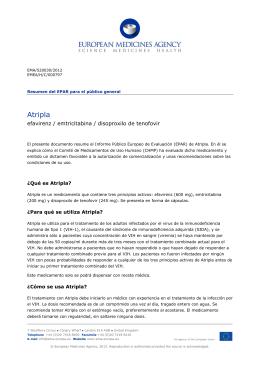 Atripla, INN-Efavirenz/Emtricitabine/Tenofovir disoproxil (as fumarate)
