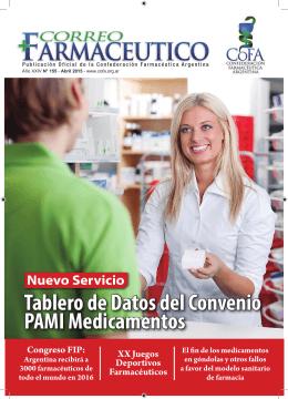 Tablero de Datos del Convenio PAMI Medicamentos