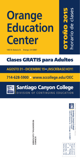 OEC-FALL Class Schedule-SPANISH