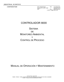 CONTROLADOR 8000 - Industrial Scientific