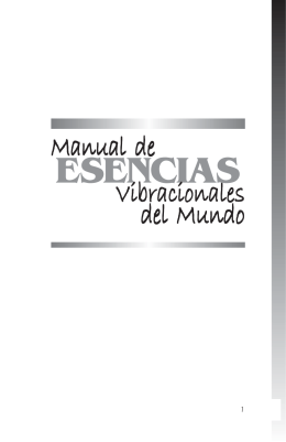 Manual de Esencias Vibracionales
