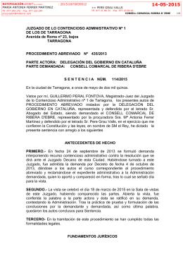 JUZGADO DE LO CONTENCIOSO ADMINISTRATIVO Nº 1 DE LOS