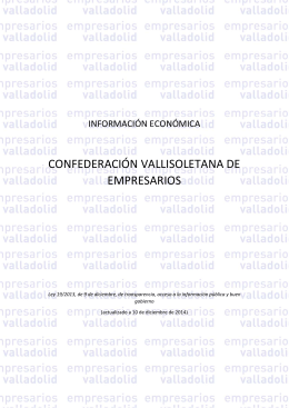 Información ley de transparencia - Confederación Vallisoletana de