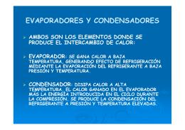 EVAPORADORES Y CONDENSADORES