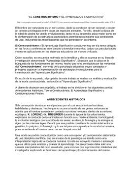 """""""EL CONSTRUCTIVISMO Y EL APRENDIZAJE SIGNIFICATIVO"""""""