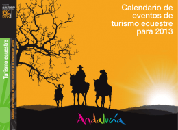 Calendario de eventos de turismo ecuestre para 2013