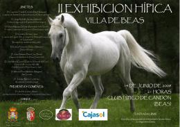 Cartel Festival Hípico - Hermandad Ntra. Sra. La Virgen de los