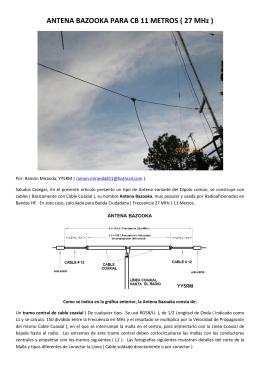 ANTENA BAZOOKA PARA CB 11 METROS ( 27 MHz )