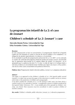 La programación infantil de La 2: el caso de Leonart