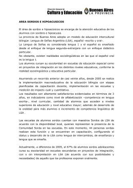 AREA SORDOS E HIPOACUSICOS