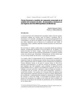 analisis de demanda de pescados y mariscos de las familias del