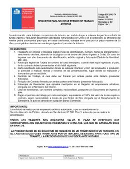 t4 permiso de trabajo a artistas - Departamento de Extranjería y
