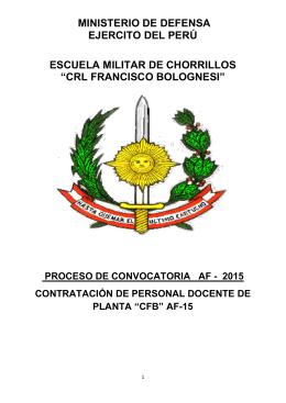 crl francisco bolognesi - Escuela Militar de Chorrillos