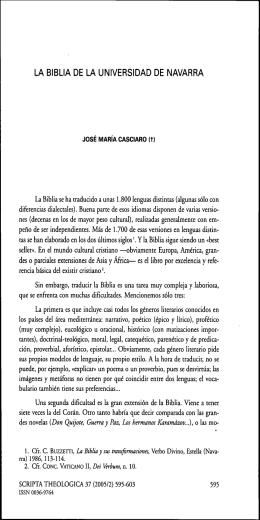 LA BIBLIA DE LA UNIVERSIDAD DE NAVARRA