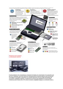 Arquitectura de las laptops La alimentación electrica. Cuando