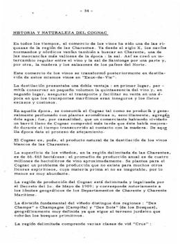 - 34 - HISTORIA Y NATURALEZA DEL COGNAC E n t odo s l o s t