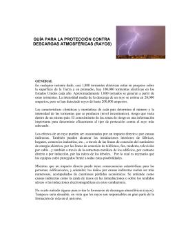 guía para la protección contra descargas atmosféricas (rayos)