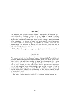 Intencionalidad en el uso del nº 14 en la obra de JS Bach
