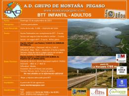 BTT - Infantil y Adultos - Grupo de Montaña Pegaso