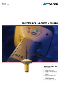 RECEPTOR GPS + GLONASS + GALILEO