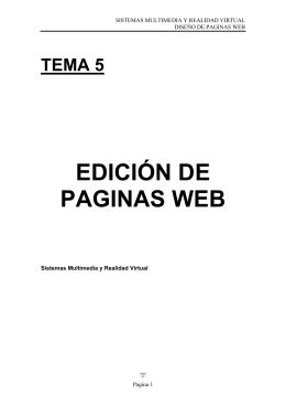 INDICE PAGINAS WEB - Arquitectura y Tecnología de Computadores