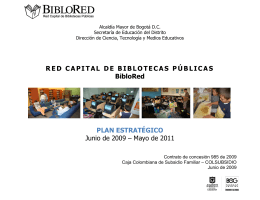 Descargar Plan Estratégico 2009 - Red Capital de Bibliotecas