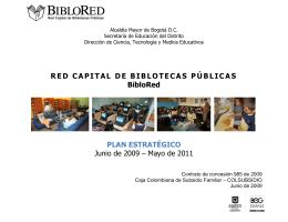 Descargar Plan Estratégico 2009 - Red Capital de Bibliotecas