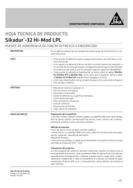 Sikadur®-32 Hi-Mod LPL