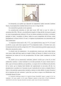 COMENTARIO DE UN CLIMOGRAMA (EJEMPLO)