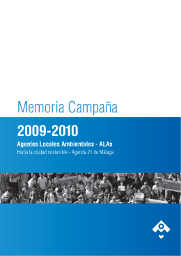 Memoria ALAs - OMAU Málaga Observatorio de Medio Ambiente