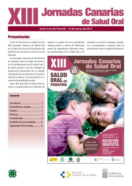 XIII Jornadas - Gobierno de Canarias