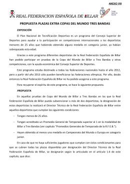 Anexo VIII - Real Federación Española de Billar