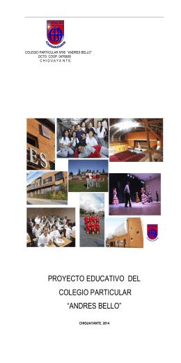 proyecto educativo del colegio particular