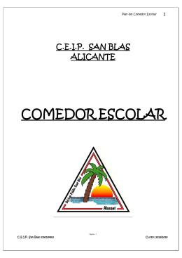 plan de comedor - Colegio San Blas de Alicante