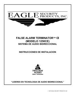 FALSE ALARM TERMINATOR™ CE (MODELO 1250CE)
