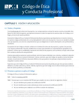 Código de Ética y Conducta Profesional
