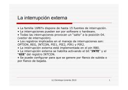 La interrupción externa