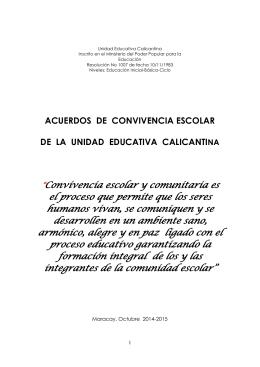 Unidad Educativa Calicantina - Bienvenidos al Colegio Calicantina
