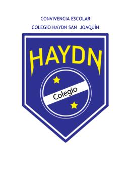 CONVIVENCIA ESCOLAR COLEGIO HAYDN SAN JOAQUÍN