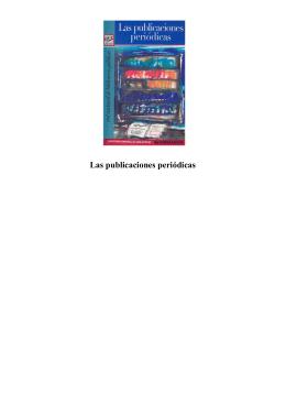 Las publicaciones periódicas - Dirección General de Bibliotecas