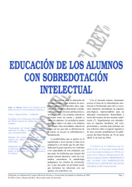 Educación de los alumnos con sobredotación intelectual