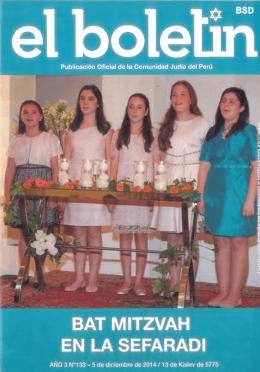 Publicación Oficial de la Comunidad Judía del Perú