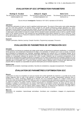 evaluation of gcc optimization parameters evaluación de parámetros
