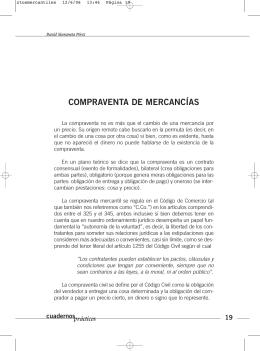 COMPRAVENTA DE MERCANCÍAS