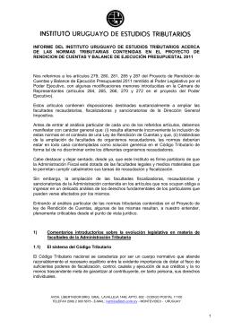 INFORME DEL INSTITUTO URUGUAYO DE ESTUDIOS